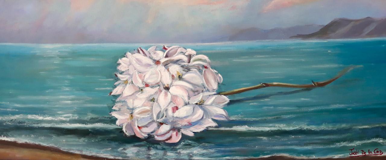 Réplica autorizada del original óleo sobre lienzo Biznaga Marinera, de Conchi Quesada