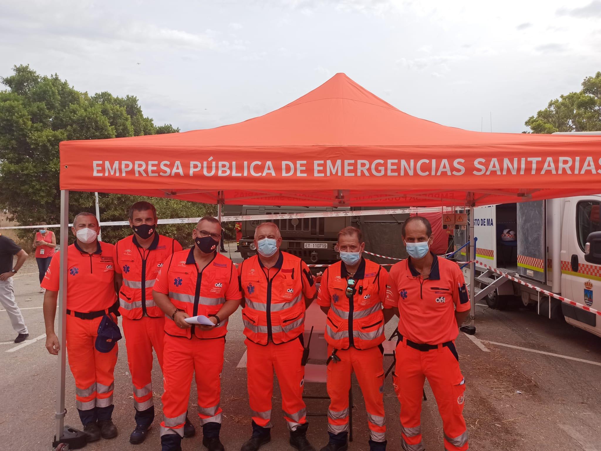 Salud agradece la labor de los profesionales sanitarios desplazados al incendio de Sierra Bermeja